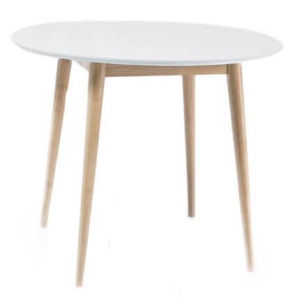 Стол обеденный Larson 90 Белый/беленый дуб (Signal TM), фото 2
