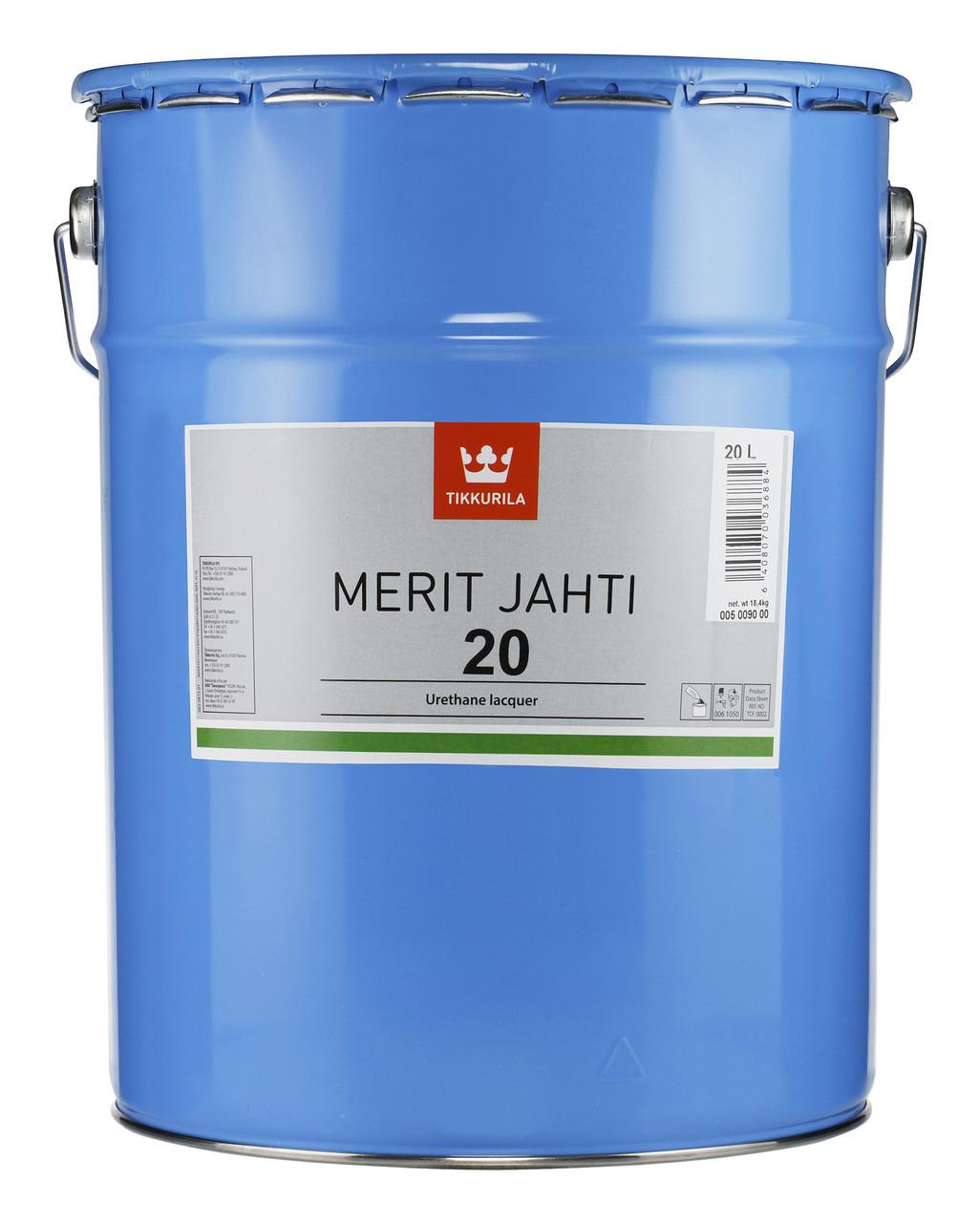 Лак яхтний Tikkurila Меріт Яхті Merit Jahti 20 20л напівматовий
