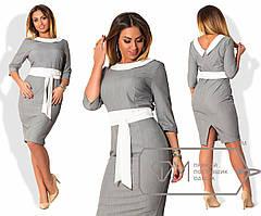 Батальное женское платье из трикотажа