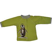 Кофта Пингвин теплая детская на кнопках унисекс