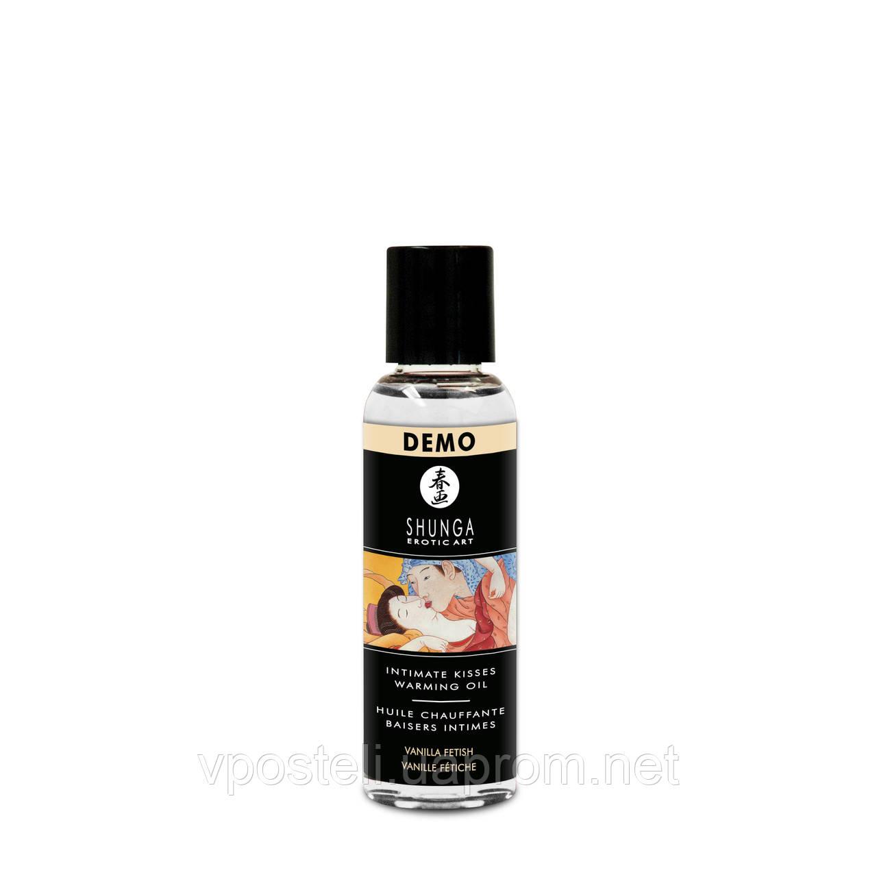 Масло согревающее для оральных ласк с ароматом ванили, Shunga, 60 мл