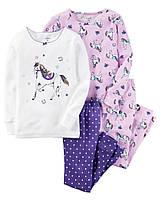 Пижама детская для девочек carters +детская одежда картерс