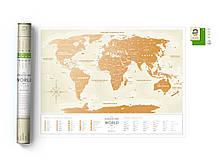 Скретч карта світу Travel Map ™ Gold World (українською мовою)