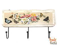 Оригинальная вешалка для одежды настенная Бабочки