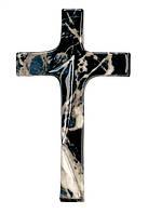 Крест - чёрный мрамор P.08.5630/17 Real Votiva