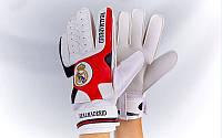 Перчатки вратарские REAL MADRID (черный-красный)