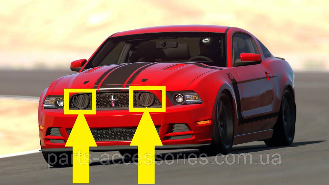 Ford Mustang BOSS 302 2013-2014 решетки крышки заглушки в решетку радиатора новые оригинальные