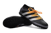 Футбольные сороконожки adidas ACE 16.3 TF Core Black/Solar Yellow/White, фото 1