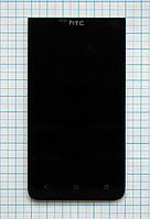 Дисплей для мобильного телефона HTC 603e/E1, черный, с тачскрином, ORIG