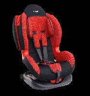 """Детское авт. кресло SIGER """"Кокон изофикс"""" , 1-7 лет, 9-25 кг, группа 1,2 (красный)"""