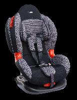 """Детское авт. кресло SIGER """"Кокон изофикс"""" , 1-7 лет, 9-25 кг, группа 1,2 (серый)"""