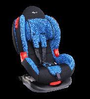 """Детское авт. кресло SIGER """"Кокон изофикс"""" ,1-7 лет, 9-25 кг, группа 1,2 (синий)"""