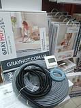 11m2 нагрівальний кабель на 11,5 м. кв GrayHot + регулятор (двожильний кабель 115м для теплої підлоги), фото 4