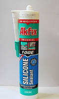 Герметик силиконовый Akfix 280 мл прозрачный белый