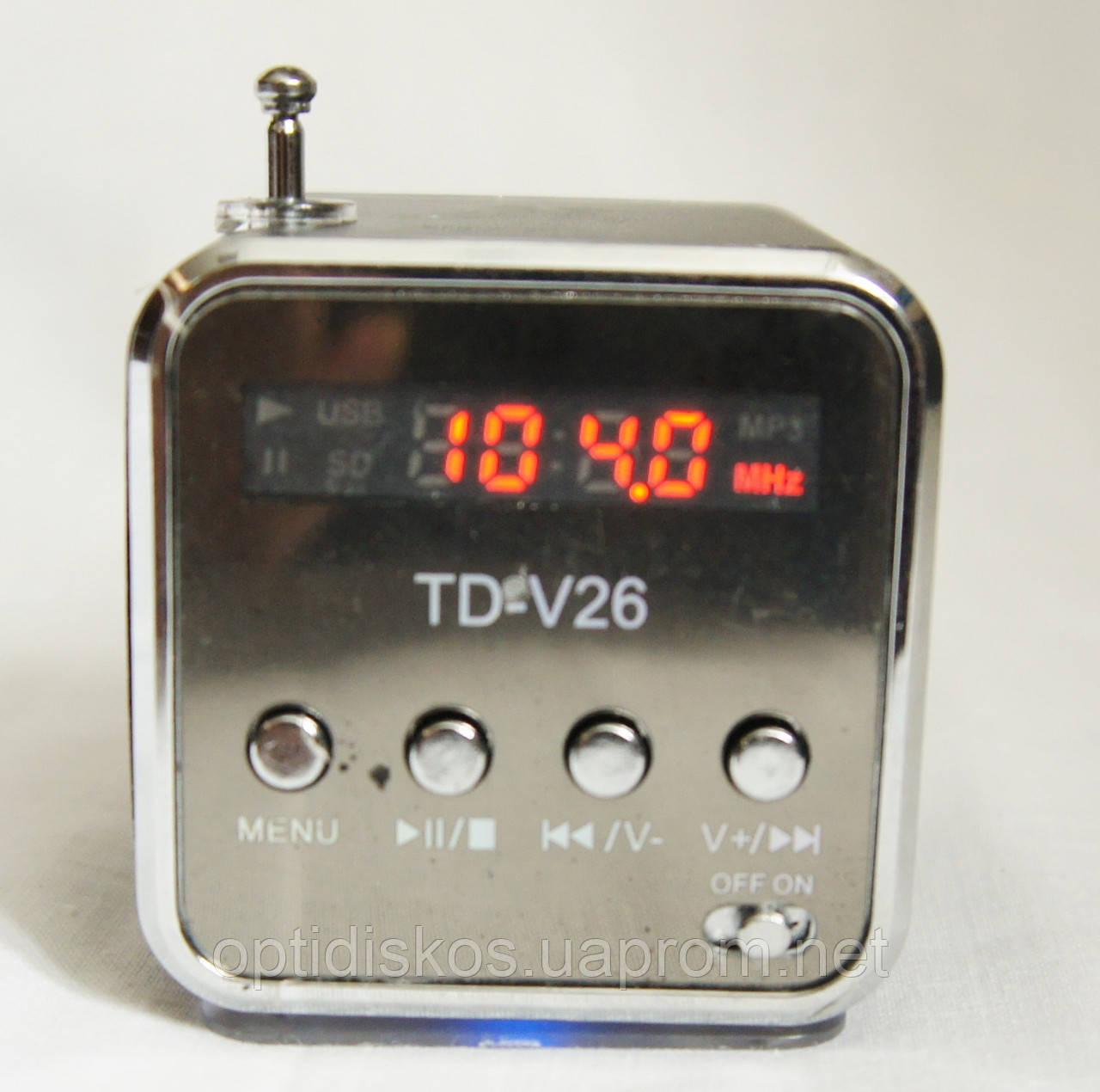 Портативна колонка SPS TD V26, радіо, usb, micro sd