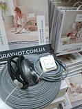 10m2 Тепла підлога електричний GrayHot на 10м2 + регулятор (кабель 102м двожильний), фото 3