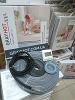 13m2 теплый пол электрический (комплект с регулятором) GrayHot нагревательный кабель 128м