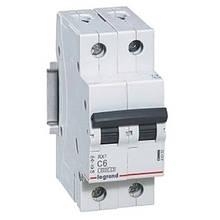 Автоматичний вимикач Legrand RX3 - 2P 6А, C