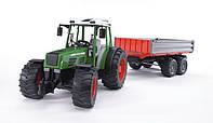 Игрушка - трактор Fendt 209 S с прицепом, М1:16 02104 (10550)