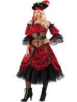 Прокат карнавального костюма пиратка люкс