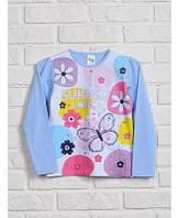 Джемпер трикотажный Цветные круги для девочки