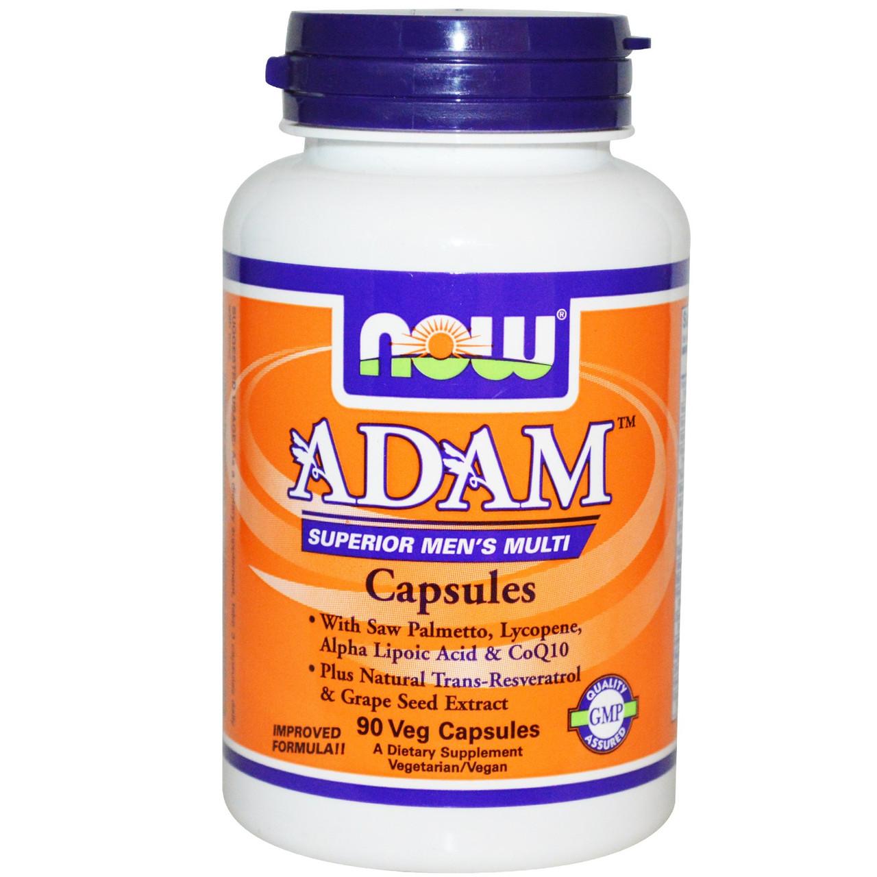 Adam Superior Men's Multi NOW Foods 90 Veg Caps