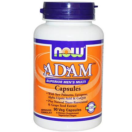 Adam Superior Men's Multi NOW Foods 90 Veg Caps, фото 2
