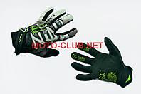 "Мотоперчатки   ""FOX""   (mod:Monster energy, size:L, черно-белые)"