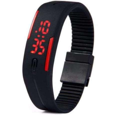 Детские наручные часы-браслет Sport Led Watch (черные)