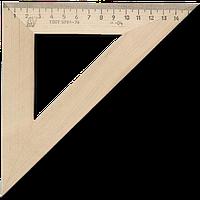 _Треугольник деревян. 16см 45х45 равнобедреный