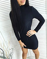 Платье-гольф черного цвета