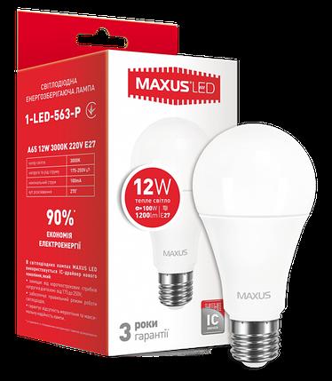 Светодиодная лампа Maxus 563-Р А65 12W 3000K E27 220V Код.54655, фото 2