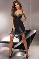 Нижнее эротическое белье, Livia Corsetti, CERES нижнее белье, черное с голубым кружевом, фото 1