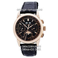 Часы Patek Philippe black/gold/black Класс ААА
