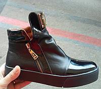 Ботинки-криперсы женские  натуральная кожа
