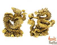Набор статуэток Дракон и Феникс 12 см