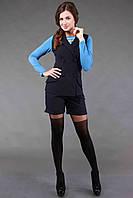 Костюм жилетка+шорты синего цвета