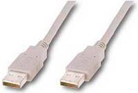 Удлинитель USB 1.8m Atcom AF/AF (феррит, белый)