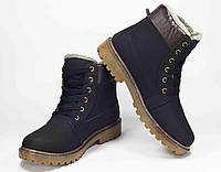 Мужские зимние ботинки Dual черный  в cтиле Timberland