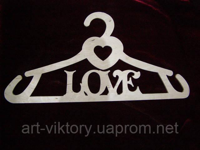 """Вішалка """"LOVE"""" (42 х 20 см), декор"""