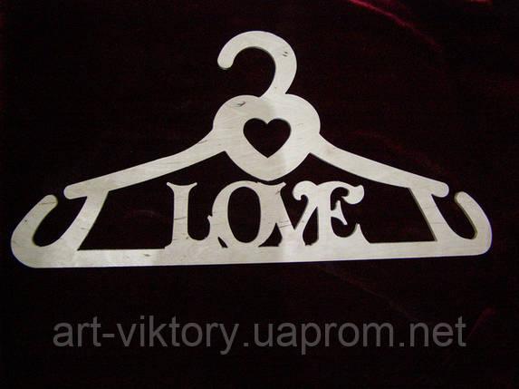 """Вішалка """"LOVE"""" (42 х 20 см), декор, фото 2"""
