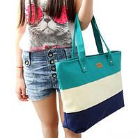 Полосатая женская сумка