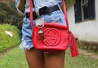 Стильная сумочка - клатч Гучи. Красная