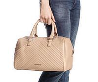 Стильная женская сумка в стиле Mango Touch. Бежевая