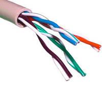 Кабель UTP LogicPower, с троссом, наружная прокладка КНПТ K (4*2*0,51) СCA