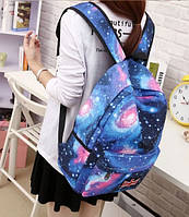 Космос школьный рюкзак. Синий