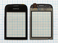 Тачскрин сенсорное стекло для Nokia 202 Asha High Copy black