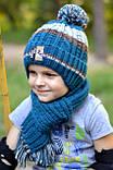 Вязаный шарф на мальчика, фото 5