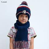 Вязаный шарф на мальчика, фото 4