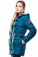 Женское зимняя куртка ДЖУДИ с капюшоном 42-54 рр